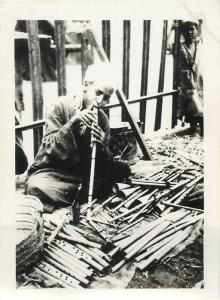 Real photo an ethnic flute maker