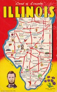 Map Of Illinois The Land Of Lincoln With Map