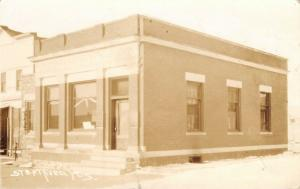 Stratford WI~Basement Barber Shop by State Bank~Sepia~Hansen/Withee RPPC c1910