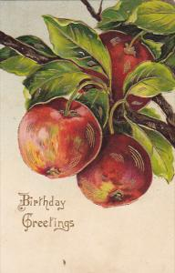 Birthday Greetings Apples Embossed