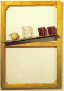 Art Postcard, Ohne Titel (untitled) Shelf (1966) by Marcel Broodthaers 88U