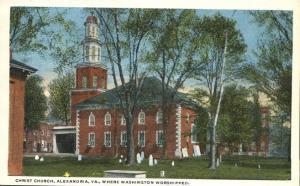 Christ Church where Washington Worshipped - Alexandria VA, Virginia - WB