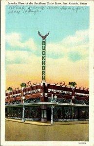 VTG Postcard Buckhorn Curio Store Museum Saloon San Antonio Texas  1438