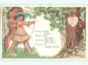 A49/ Native American Indian Postcard c1910 Seminole Camp Ground