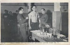 Inoculation and vaccination, Reception center, Camp Lee, Va. Medical Postcard...