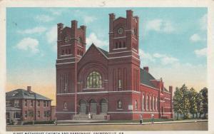 GAINESVILLE , Georgia , 1910s; First Methodist Church and Parsonage