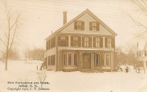 Jaffrey NH New Post Office and Store Real Photo Postcard