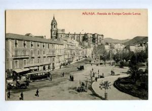 190728 SPAIN MALAGA Avenida Enrique Crooke Larios TRAM Vintage