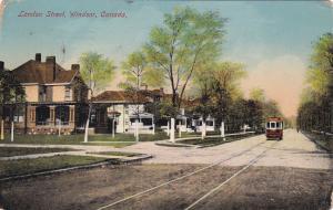 WINDSOR, Ontario, Canada, PU-1913 ; London Street