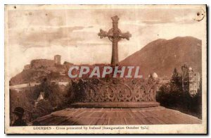 Old Postcard Lourdes Cross Presented by Ireland Opening October 1924