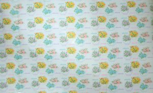 Vtg By YD Department Store Wrapping Paper Yellow Blue Pink Tea Pot Flower Shower