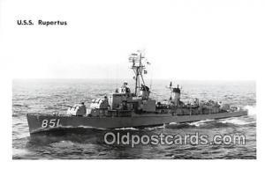 Kodak Paper Real Photo Postcard Post Card USS Rupertus
