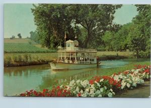 Postcard PA Lancaster Dutch Wonderland Lady Gay River Boat c1970s O06