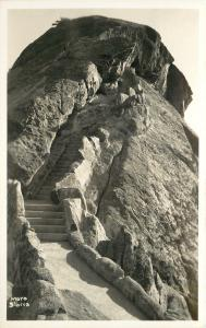 Sequoia National Park California~ Moro Rock Stairs~1930s Real Photo~RPPC