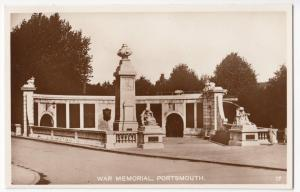 Portsmouth; War Memorial RP PPC, Unposted, c 1930's