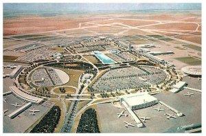 Lot 2 Aerial View Terminal City JFK New York International Airport Postcard