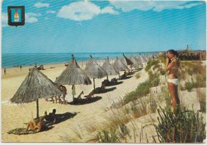 ALGARVE, Portugal, Praia Verde Beach, 1968 used Postcard