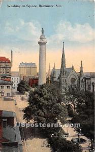 Washington Square Baltimore MD 1915