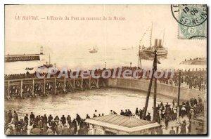 Old Postcard Le Havre Entree Du Port Au Moment De La Maree