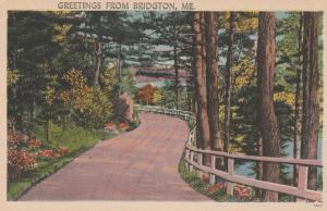 Greetings from Bridgton, Maine - Linen