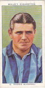 Wills Vintage Cigarette Card Association Footballers No 16 E Dodds Blackpool ...