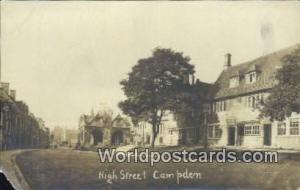 England, United Kingdon of Great Britain High Street Campden  Real Photo