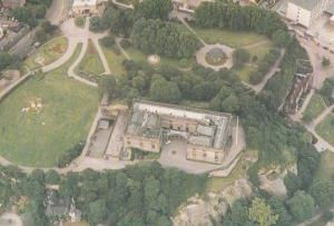 Nottingham Castle Spectacular 1980s Aerial View Birds Eye Postcard