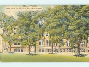 Linen HIGH SCHOOL Wilmington Ohio OH k0352