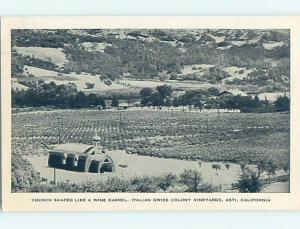 1940's CHURCH SCENE Asti California CA hs7881-12