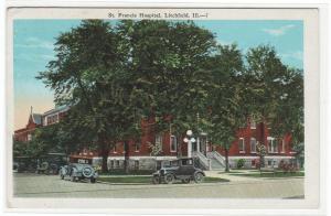 St Francis Hospital Litchfield Illinois 1920s postcard