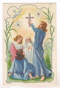 Easter Joys, Jesus holding a Cross, 1911