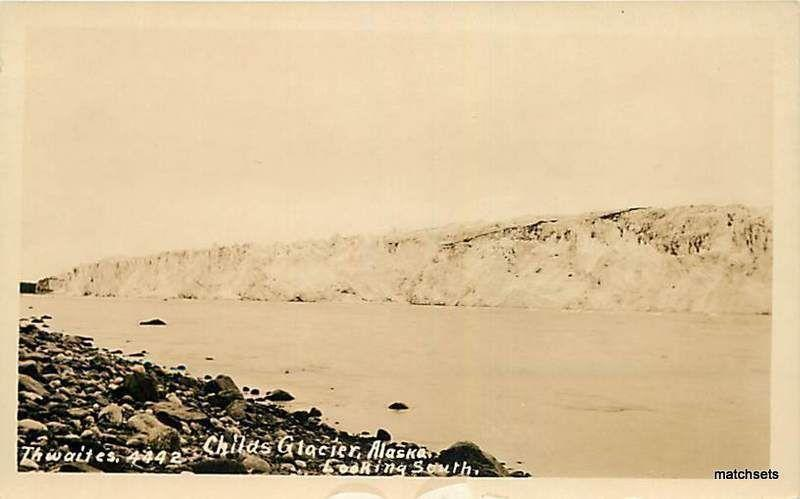 ALASKA Childs Glacier Looking South RPPC POSTCARD 9870