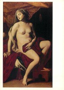 Painting Neapolitan School art postcard Massimo Stanzione cleopatra
