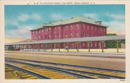 North Carolina Rocky Mountain Atlantic Coast Line Depot