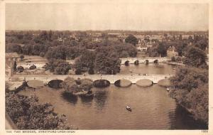 The Two Bridges River Ponts Panorama Stratford-Upon-Avon General view