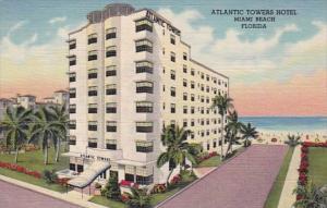 Florida Miami Beach Atlantic Towers Hotel Curteich