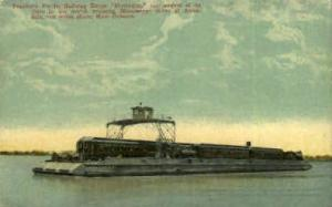 Sothern Pacific Railway Barge Mastodon New Orleans LA Unused