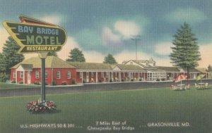 GRASONVILLE , Maryland , 1930-40s ; Bay Bridge Motel