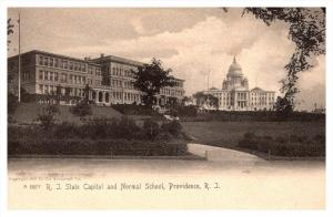 Rhode Island Providence  ,  State Capitol and Normal School