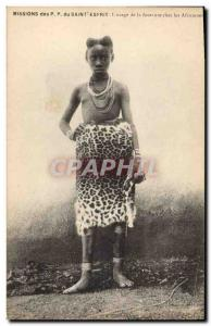 Postcard Old Missions PP Holy Spirit L & # 39usage fur among African