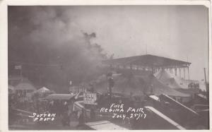 RP, Fire, Regina Fair, July 25, 1917, Showing A Sing Of W. H. Gill- Local Dealer