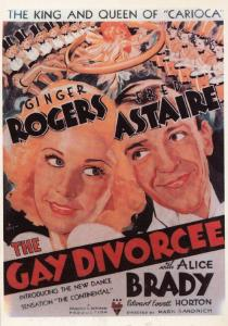 The Gay Divorcee Alice Brady Film Movie Rare Spanish Cinema Poster Postcard