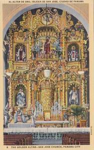 Panama City The Golden Altar San Jose Church Curteich