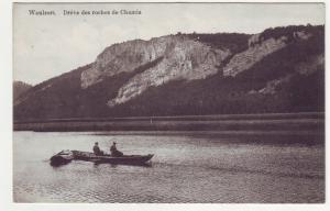 P1143 ca1912 postcard fishing boats belgium waulsort dreve des roches de chamia