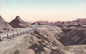 Chief Big Foot Pass The Badlands Nat Monument South Dakota Hand Colored Alber...