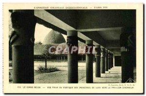 Old Postcard Exposition Coloniale Internationale Paris 1931 Congo Beloe Vue P...