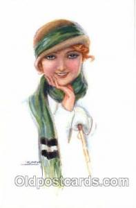 Artist Lottie Usaba (Italy) Postcard Post Card Serie 343/2 Artist Lottie Usab...