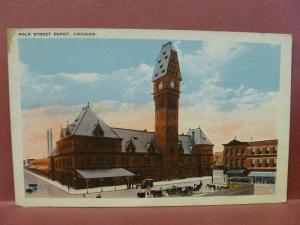 Old Postcard IL Chicago  Polk Street Depot #2