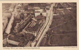Zeppelin Postcard Germany Aerial View Gustav Eyb - Leipzig Reichspost building