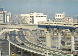 13883  Japan  1960's  The Tokyo Monorail  ( No Smog, no traffic )